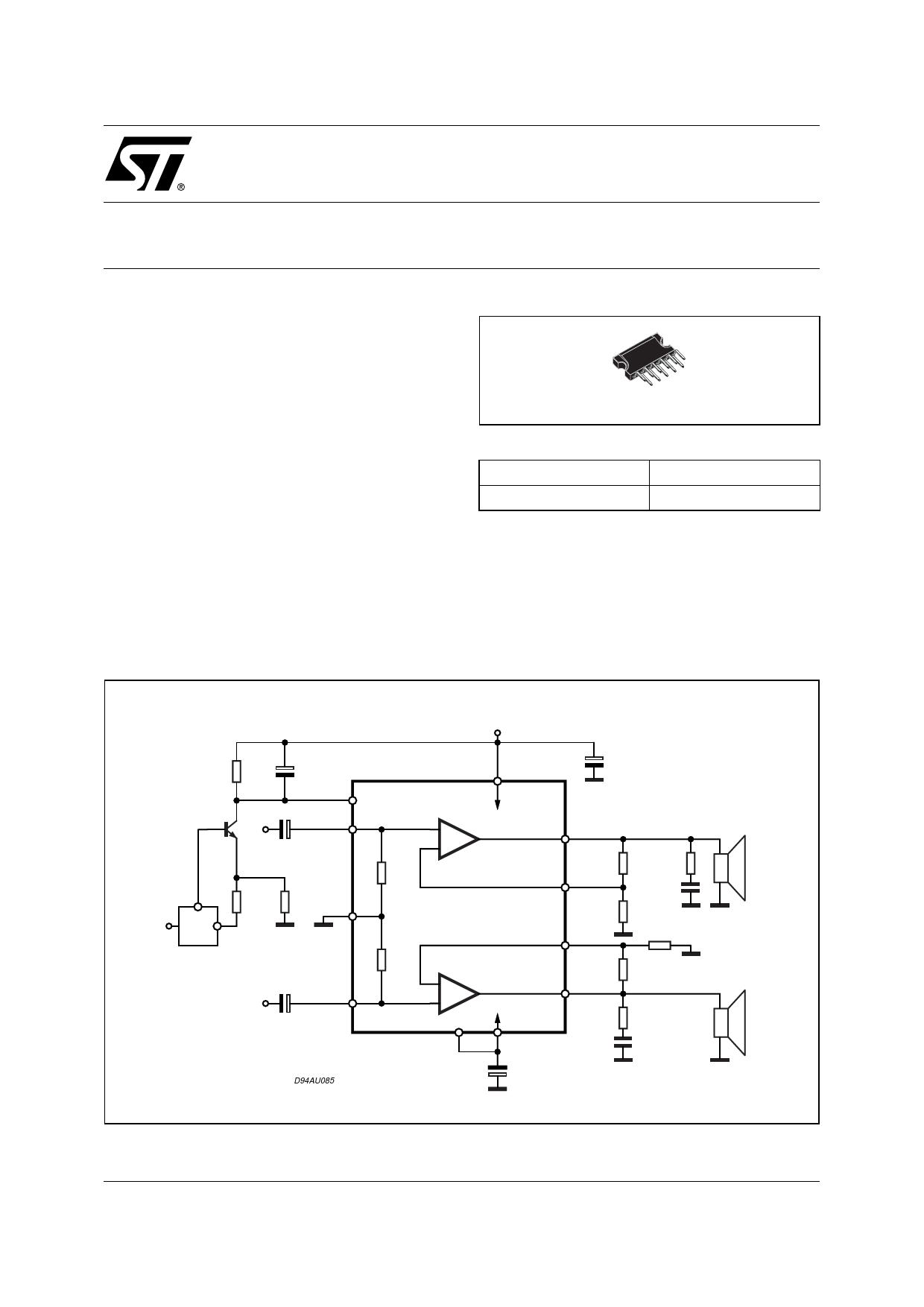 TDA7265SA Datasheet PDF - STMicroelectronics